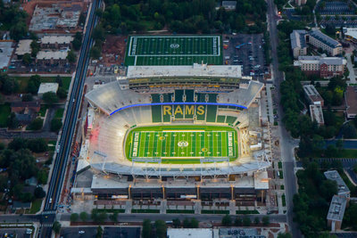 CSU Rams Aerial Photo Night