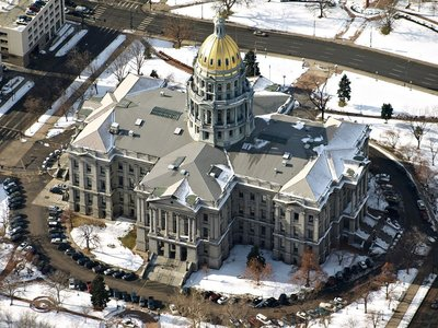 Denver Colorado Aerial Photo Capitol Building
