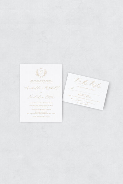 pirouettepaper.com | Wedding Stationery, Signage and Invitations | Pirouette Paper Company | Semi Custom Invitations | The Sienna 05