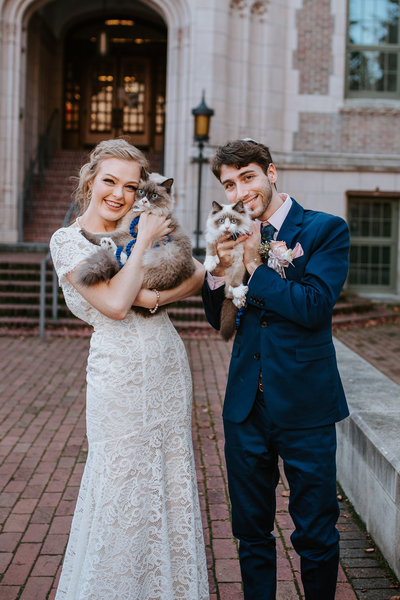 Our Wedding with our two cats