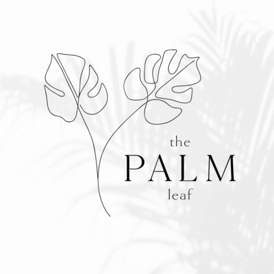 The Palm Leaf line drawing logo