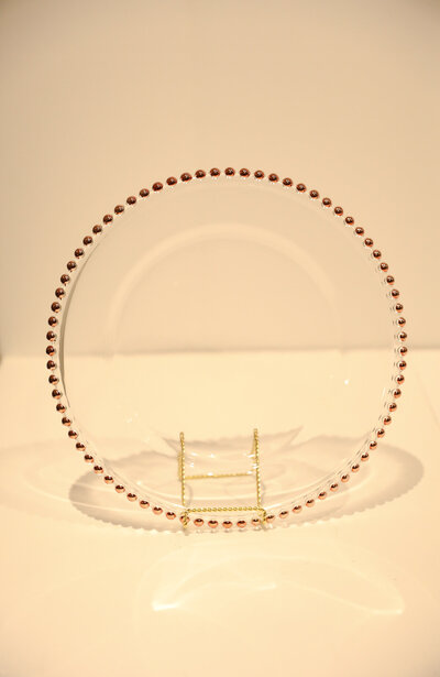 Clear Beaded Charger