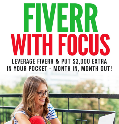 Leverage fiverr & put 3,000 dollars extra in your pocket - month in, month out.