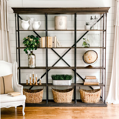 How to Style Library Shelves