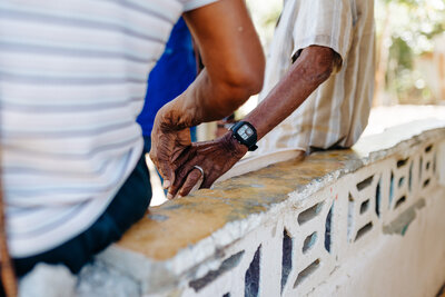 older couple holding hands in the Dominican Republic