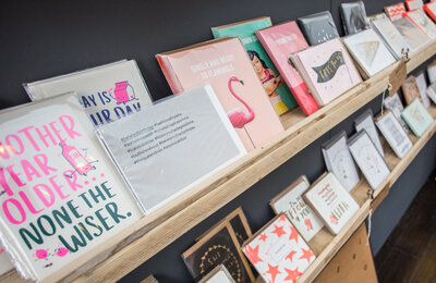 An Eclectic range of greetings cards awaits at The Little Paper Shop