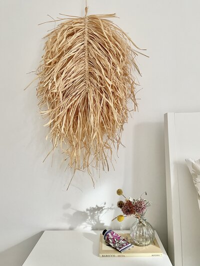 Large Raffia leaf bedroom styled by Isabella Strambio
