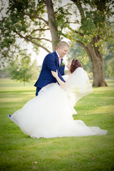 Golf Course Wedding Bride and Groom