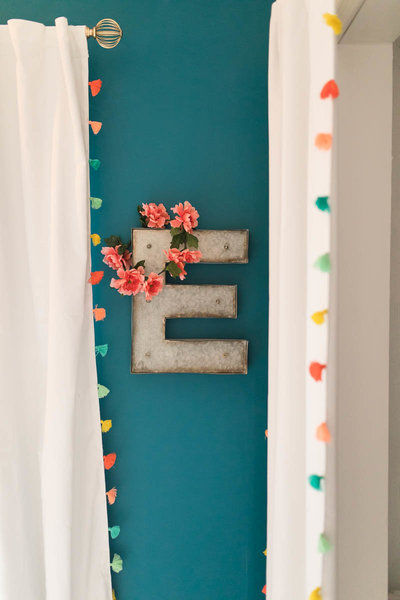 Newborn Nursery Details hang on the wall