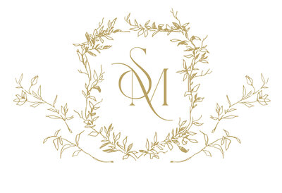 Gold monogram for Sophie May Photo