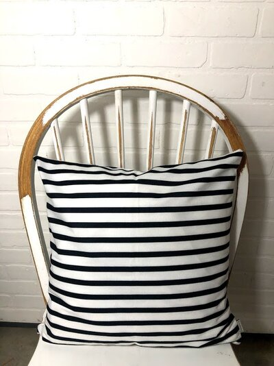 Black and White Velvet Stripe