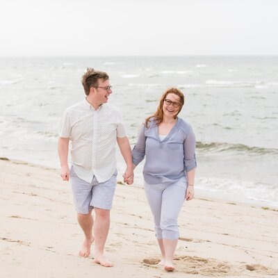 beach engagement session danielle lund photography