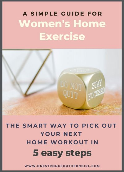 a square with an image of the first page of the smart way to pick your next home workout guide