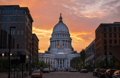 madison WI capitol Sunset