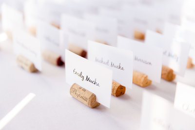 wedding placecards wedding details