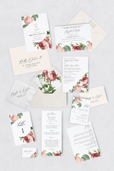 pirouettepaper.com | Wedding Stationery, Signage and Invitations | Pirouette Paper Company | Semi Custom Invitations | The Rosie  01