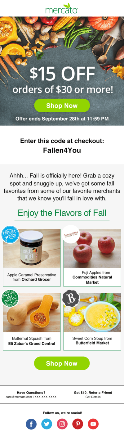 Ad Hoc Flavors of Fall mockup