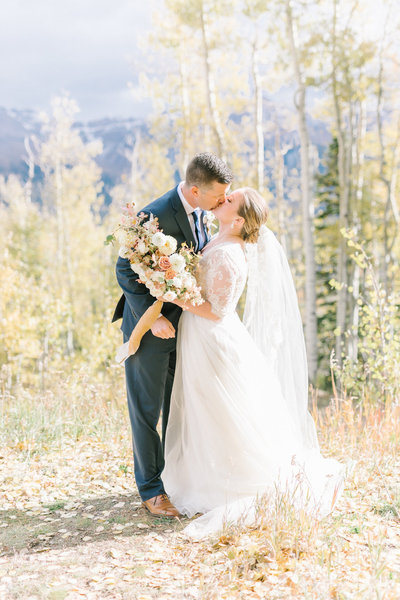 Jennifer and Jacob tie the knot on the San Sophia Overlook in Telluride, CO