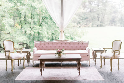Beautiful Lounge Area designed by Sirpilla Soirees, A Cleveland Ohio Wedding Planner