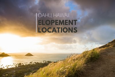 Elope in Oahu, Hawaii at beautiful locations that aren't beaches