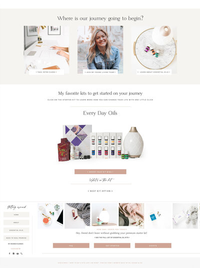 Young Living Website Template 2