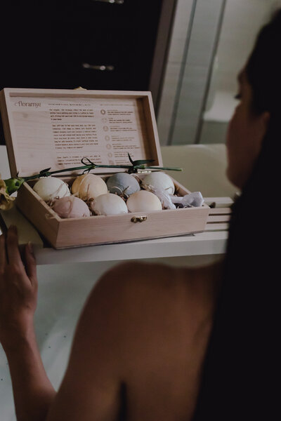 CBD bath bomb set by Floramye shot by Alex Perry