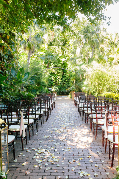 Wedding ceremony at the Ernest Hemingway Home