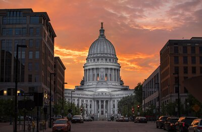 Wisconsin State Capitol Sunset