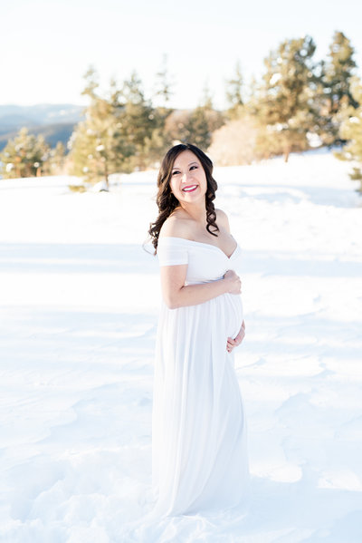 white maternity dress