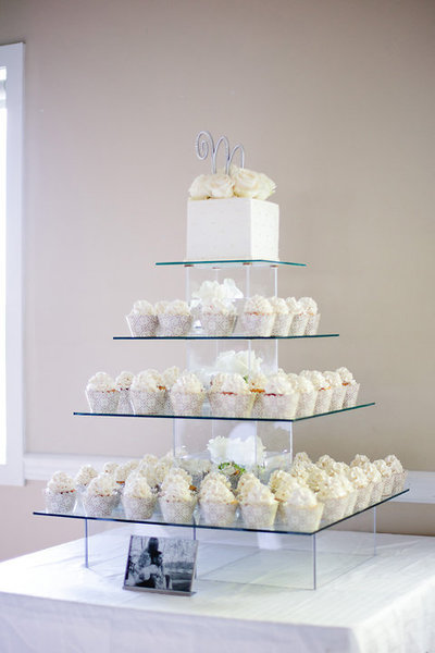 Whippt Desserts rental clear glass tiered stand