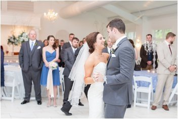 first dance at wedding reception at Ryan Nicholas Inn