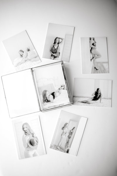 Glass Photo Box Mounted Gift Prints Fine Art VA Boudoir Studio Yours Truly Portraiture-1