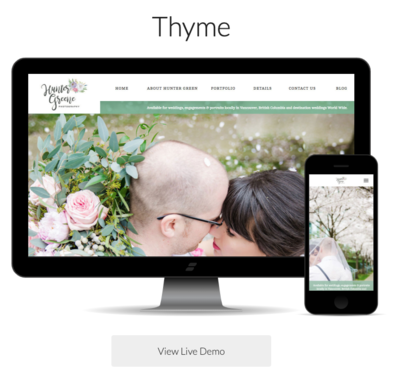 Showit Thyme website template