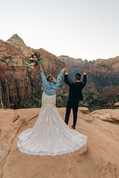 Man and woman celebrating in Zion