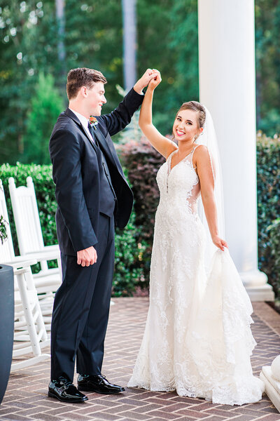 A late summer wedding at the Highgrove Estate in Fuquay Varina NC