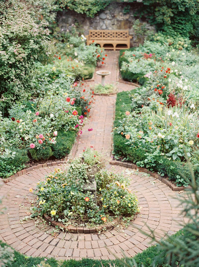 Beautiful rose garden on estate property