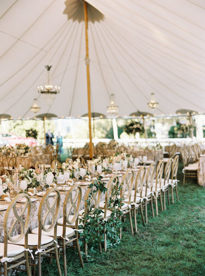 A tented wedding weekend  on Cape Cod at a New England venue with accommodations