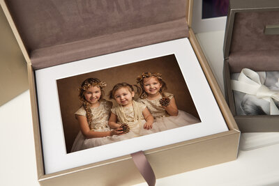 Heirloom box of printed photographs