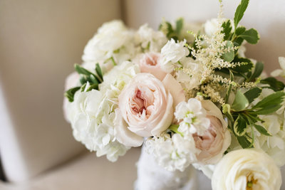 Garden Rose, Hydrangea and Astilbe Bride's Bouquet