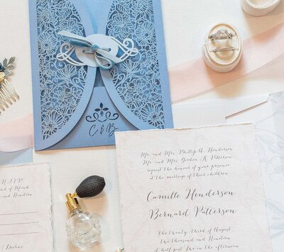 Wedding invitations pastel