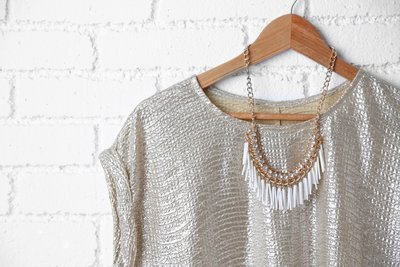 Blouse with Statement Necklace