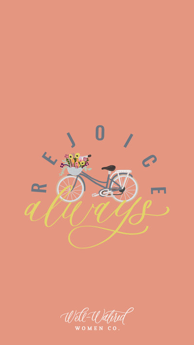 Rejoice Always Bike Lockscreen