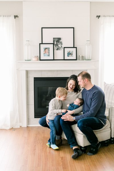 Rochester Family Photographer In Home Session