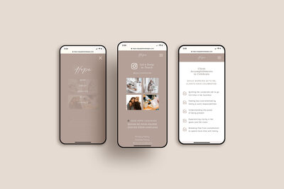 Hope Template 3 mobile mockup