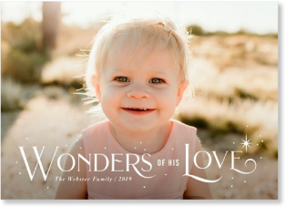 Wonders of His Love Christmas card