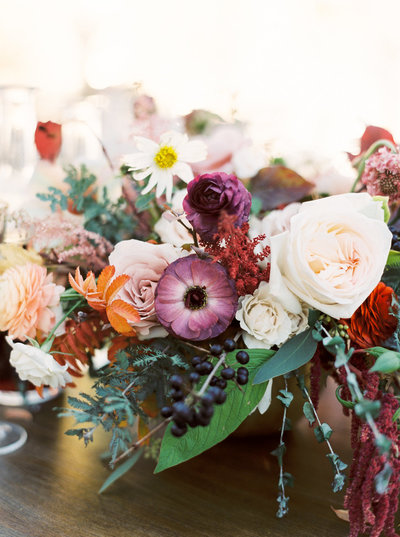 Autumnal Floral Centerpiece  for Luxury Wedding in Montana