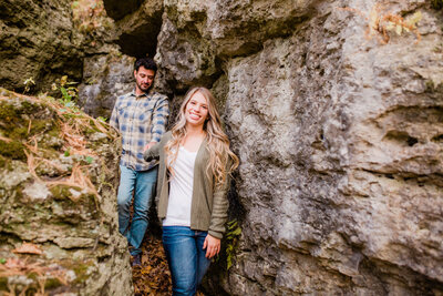 Backbone state forest engagement session Megan Snitker Photography