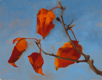 Clair gallery paintings_Orange Leaves_