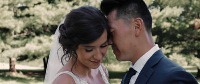 A stunning and emotional wedding at the pavilion at orchard ridge farms. Meet Vanessa + Jeffrey