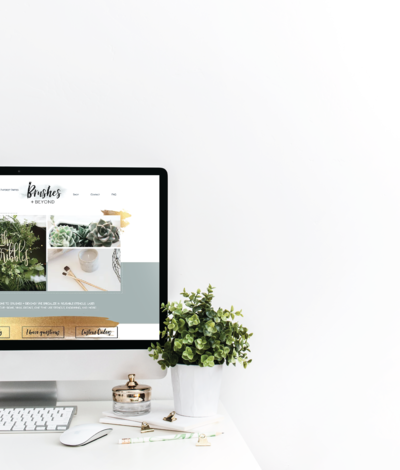 Brushes + Beyond website design by Just Like White Creative